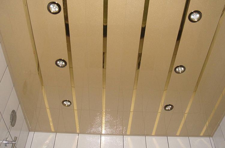 потолок реечный из алюминия