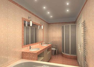 Гипсокартонный потолок с точечными светильниками