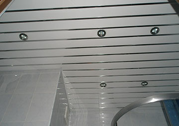 потолок из реек