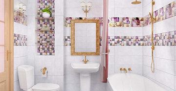 ванная отделанная панелями