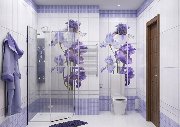 вариант отделки стен в ванной