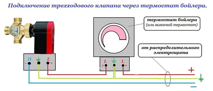 обратный клапан - схема установки