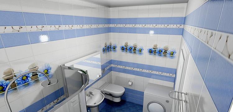 готовый вариант интерьера ванной комнаты