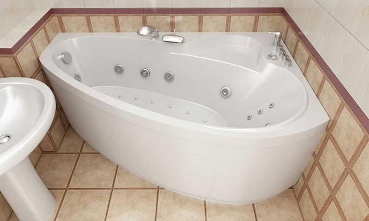 гидромассажная ванна угловая