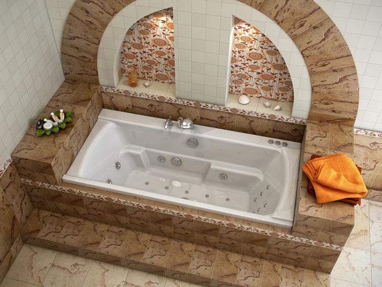 ванна в интерьере помещения