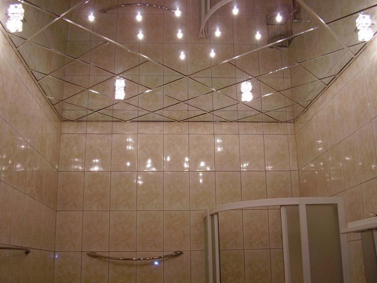 потолок зеркальный - фото
