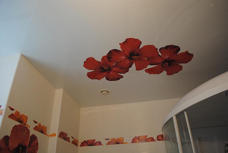 потолки с рисунками