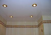 потолок и светильники
