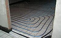 крепление трубопровода теплого водяного пола к арматурной сетке