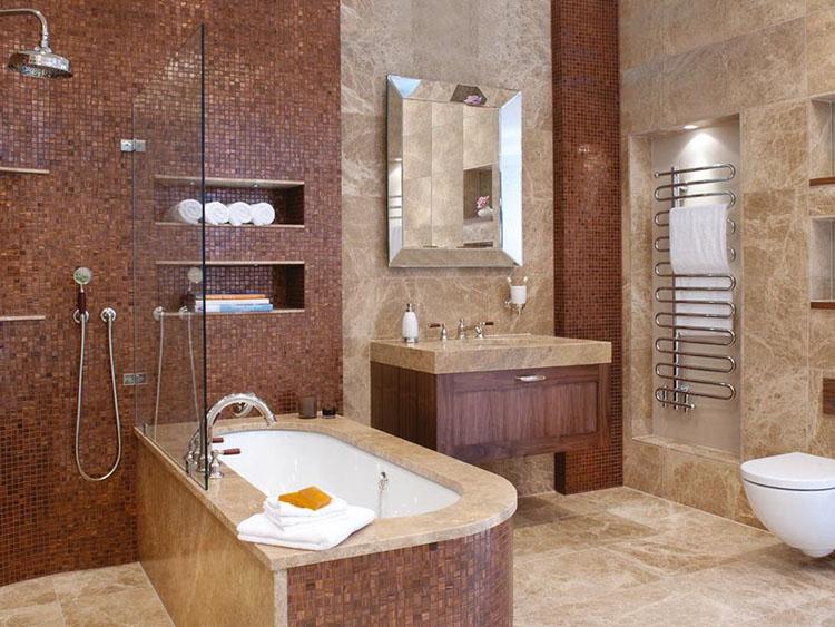 ванная после укладки плитки